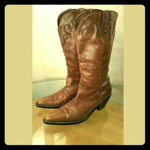 NINE WEST Women's Western Fashion Boots Size 8